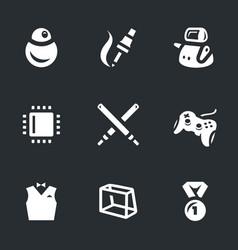 Set of robo battle icons vector