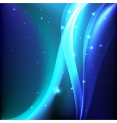 Shiny blue magic abstract background vector image