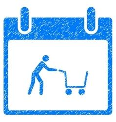 Shopping Cart Calendar Day Grainy Texture Icon vector