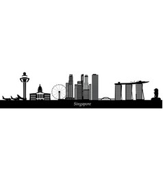 Singapore city skyline text vector