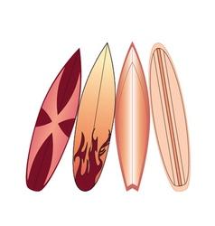 Surfboards set vector