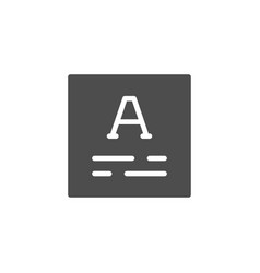 text content symbol icon or copywriting symbol vector image