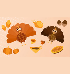 thanksgiving miscellaneous vector image