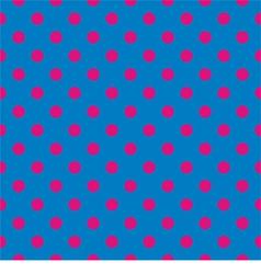 Tile pattern pink polka dots on blue background vector image vector image