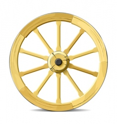 wagon wheel vector image