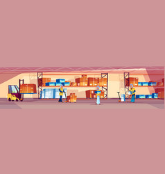 warehouse and arabian workers vector image