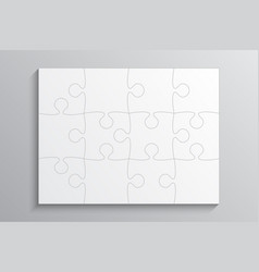 White piece puzzle banner 12 step background vector
