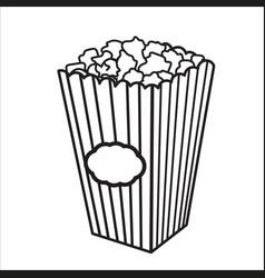 With sketch popcorn bucket vector