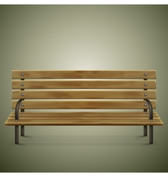 Wooden Detailed Bench On Green vector image