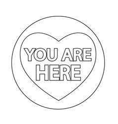 You are here icon vector
