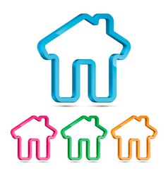 Home 3D Icon vector image vector image