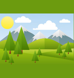 spring landscape mountain vector image vector image