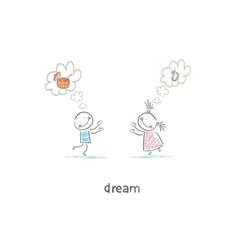 two children dreaming vector image