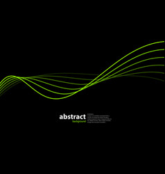 abstract wave on black vector image vector image