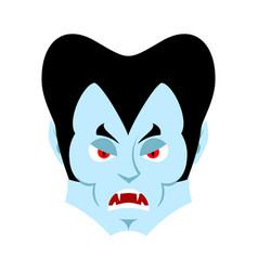 dracula angry emoji vampire evil emotion face vector image vector image