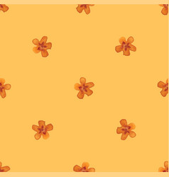 flower ornament seamless hand-draw to victor vector image