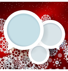 Red Christmas design with space for text vector image vector image