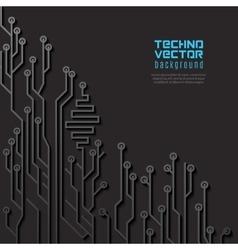 Circuit Black Background vector image