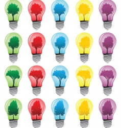 light bulbs with tree vector image vector image