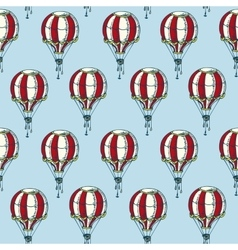 Seamless Pattern with Red and White Balloons vector image