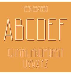 Flat alphabet vector image vector image