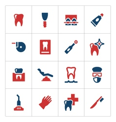 Set color icons of dental vector image