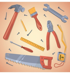 Set of different tools vector image vector image