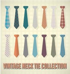Vintage Neck Tie Collection vector image vector image