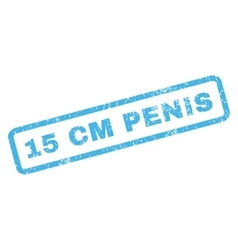 15 cm Penis Rubber Stamp vector
