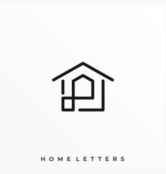 abstract home template vector image