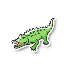 Alligator patch vector