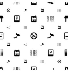 Area icons pattern seamless white background vector