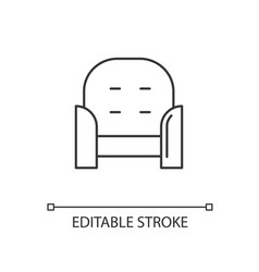 Armchair front linear icon vector