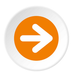 Arrow in circle icon circle vector
