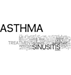 Asthma and sinusitis awareness text word cloud vector