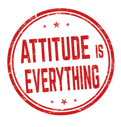 Attitude is everything sign or stamp vector