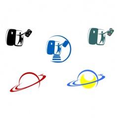 aviation and travel symbols vector image