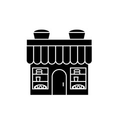 bakery building black icon concept bakery vector image