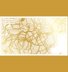 belo horizonte brazil city map in retro style vector image