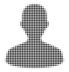 black dotted user icon vector image