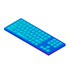 blue keyboard icon isometric style vector image