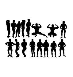 bodybuilding sports vector image
