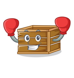 Boxing crate character cartoon style vector