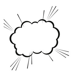 bubble cloud comic speech chat vector image