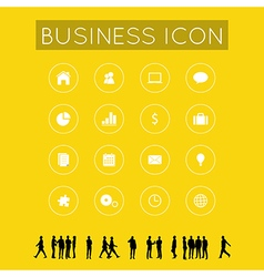 Business icon with Silhouette people vector