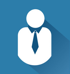 businessman leader people icon logo vector image
