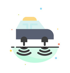 Car electric network smart wifi abstract flat vector