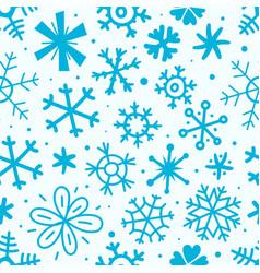 cartoon style seamless pattern snowflakes vector image