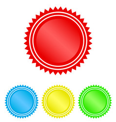 color circle seal stamp lace design stock vector image