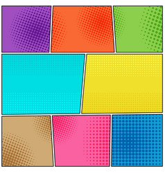 Comic book colorful bright background vector